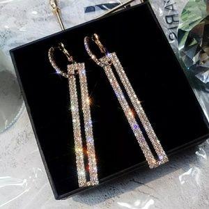🆕 Fabulous Rhinestone 2 in 1 Earrings